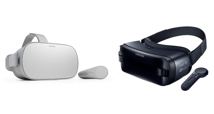 Differences between the Oculus Go and the Samsung Gear VR