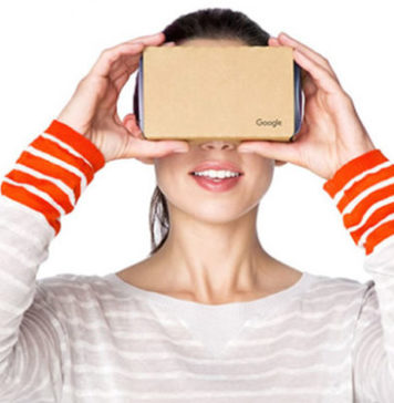 Buy a mounted Google Cardboard
