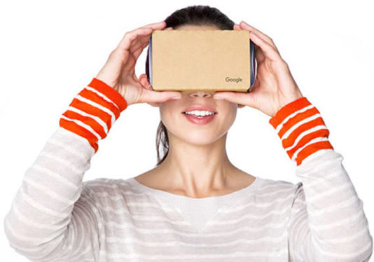 Buy a mounted Google Cardboard