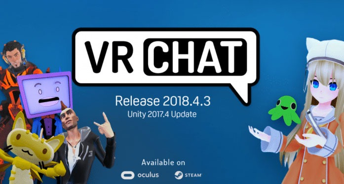 VR Chat-space between friends with avatars