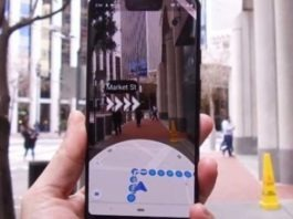 Google Maps - Augmented Reality