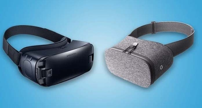 Google and Samsung mobile VR headsets