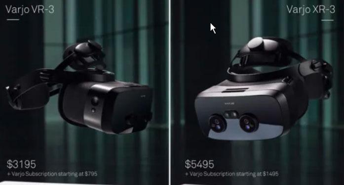 Varjo VR-3 and XR-3